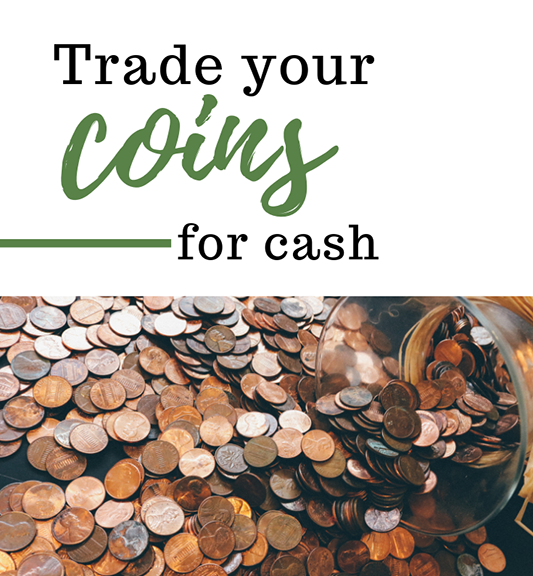 coins for cash image of change