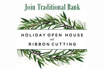 Frankfort Open House and Ribbon Cutting invitation Banner