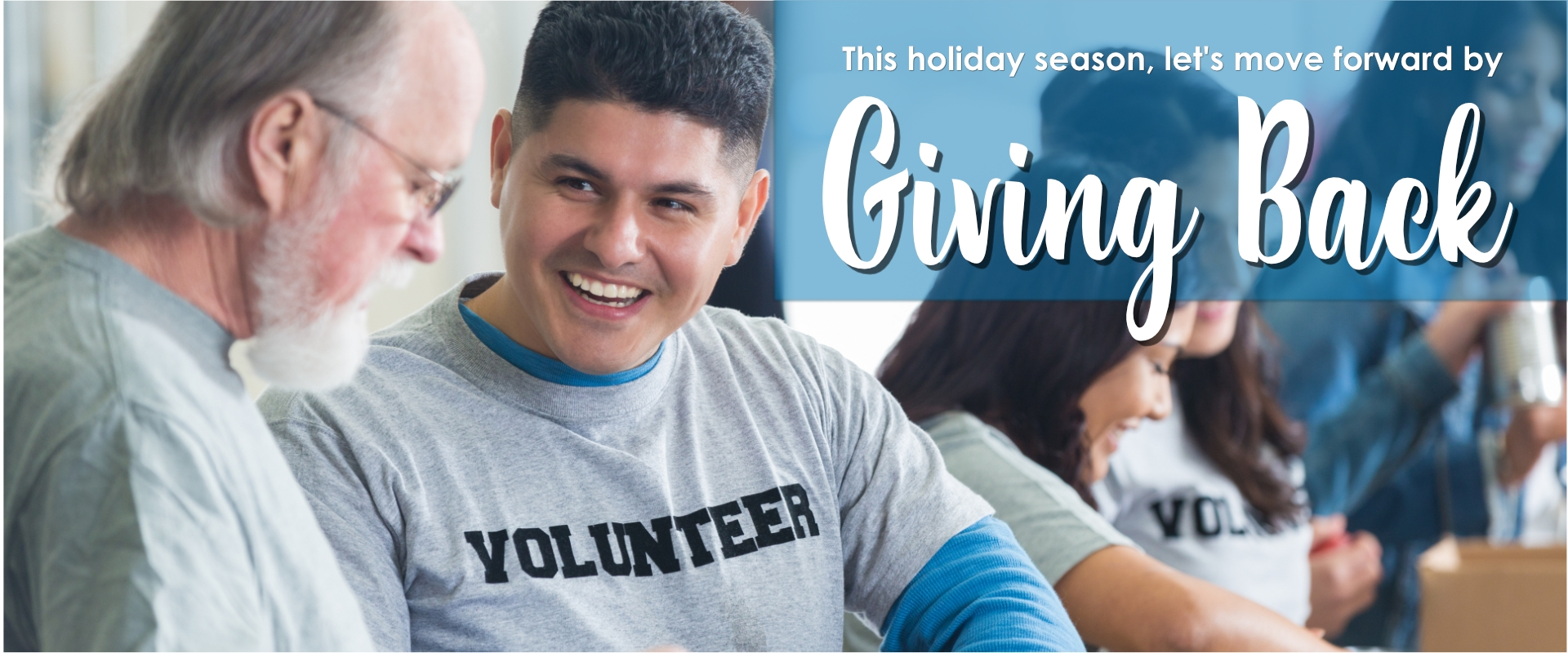 image of man volunteering and smiling Banner