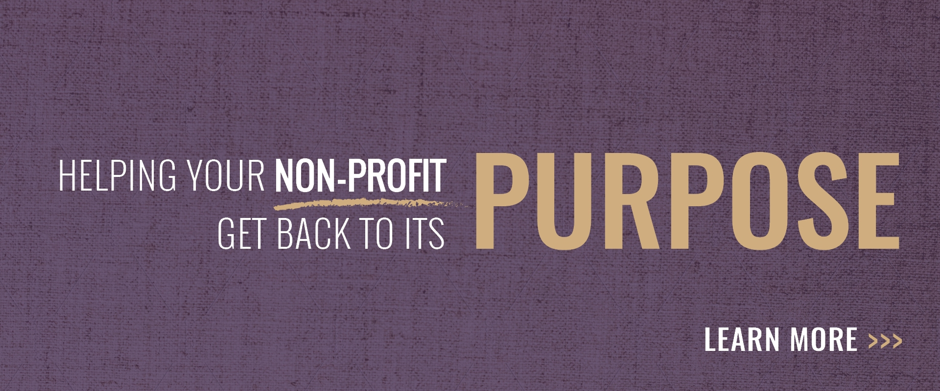 Helping your nonprofit get back to its purpose Banner