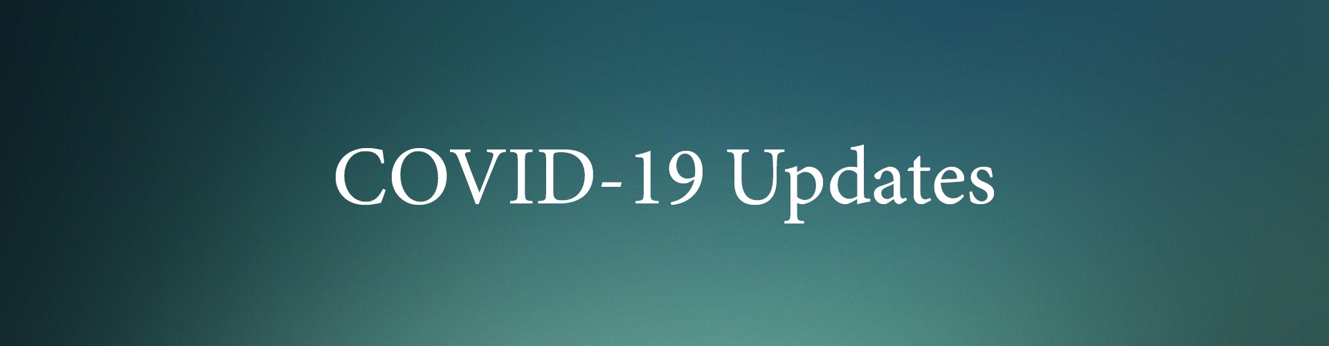 Covid-19 Updates Banner